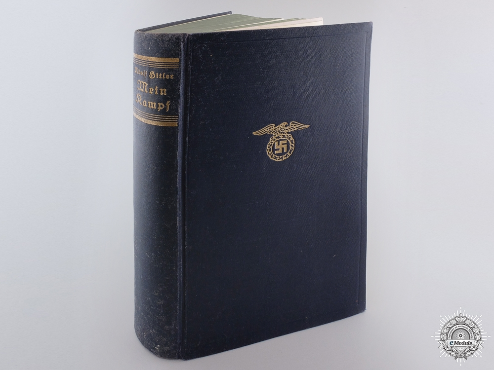 eMedals-A 1937 Presentation Mein Kampf Signed by Adolf Hitler