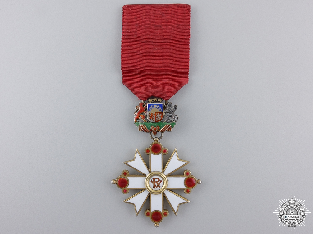 eMedals-A 1938-40 Latvian Order of Vesthardus; Knight by V. Millers