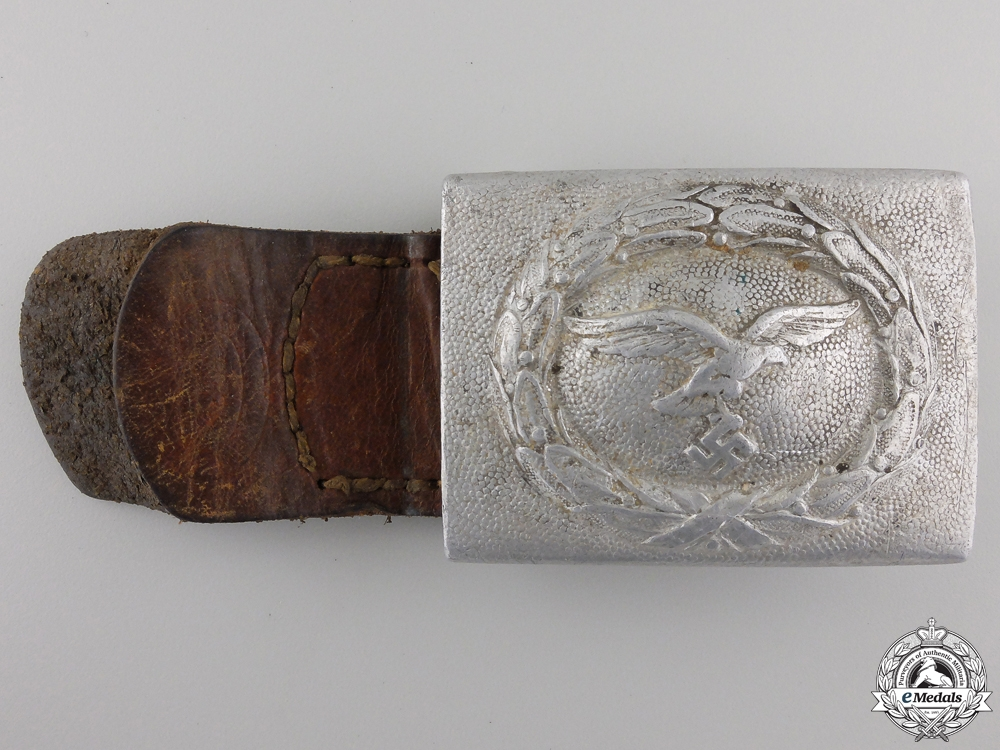 eMedals-A 1938 Luftwaffe Enlisted Belt Buckle by Richard Sieper & Söhne