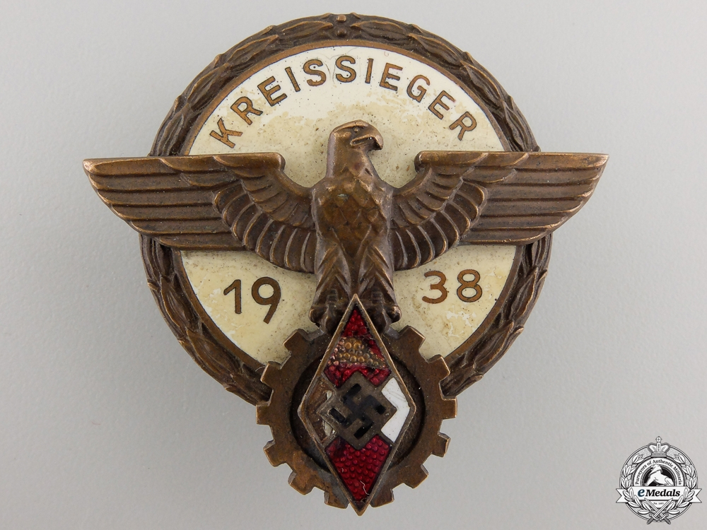 eMedals-A 1938 Victors Badge in the National Trade Competition by G.Brehmer