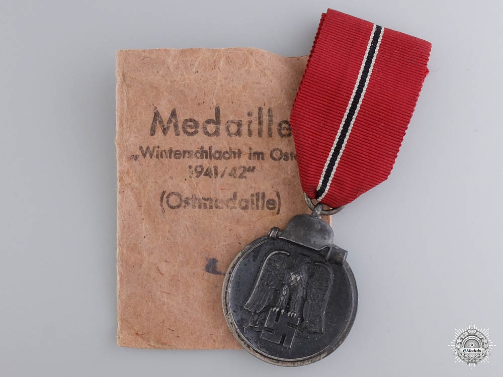 eMedals-A 1941/42 East Medal with Zimmermann Issue Packet