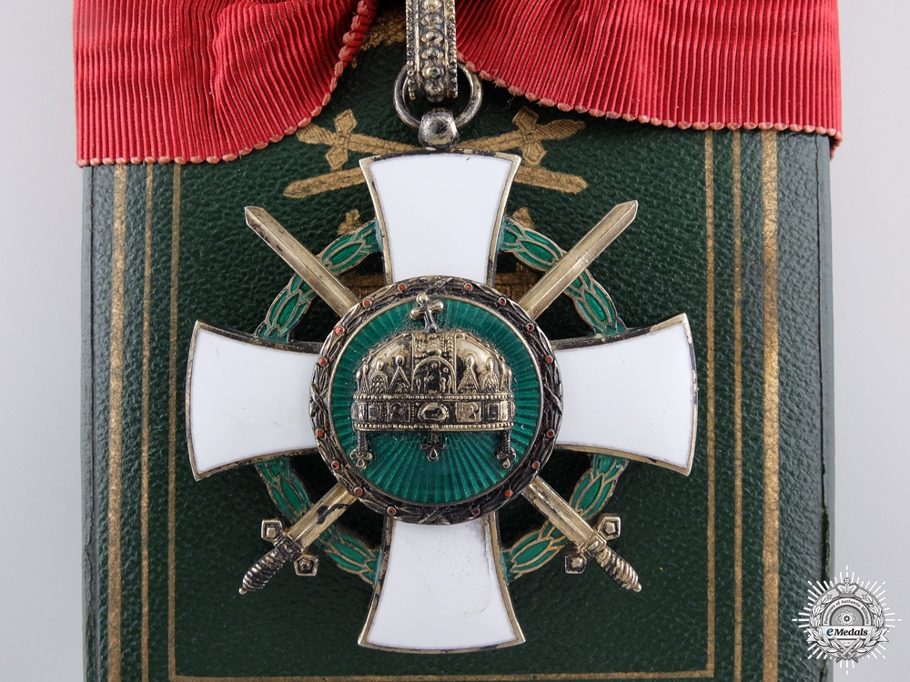 eMedals-A 1942 Hungarian Order of the Holy Crown, Commander's Cross with Swords