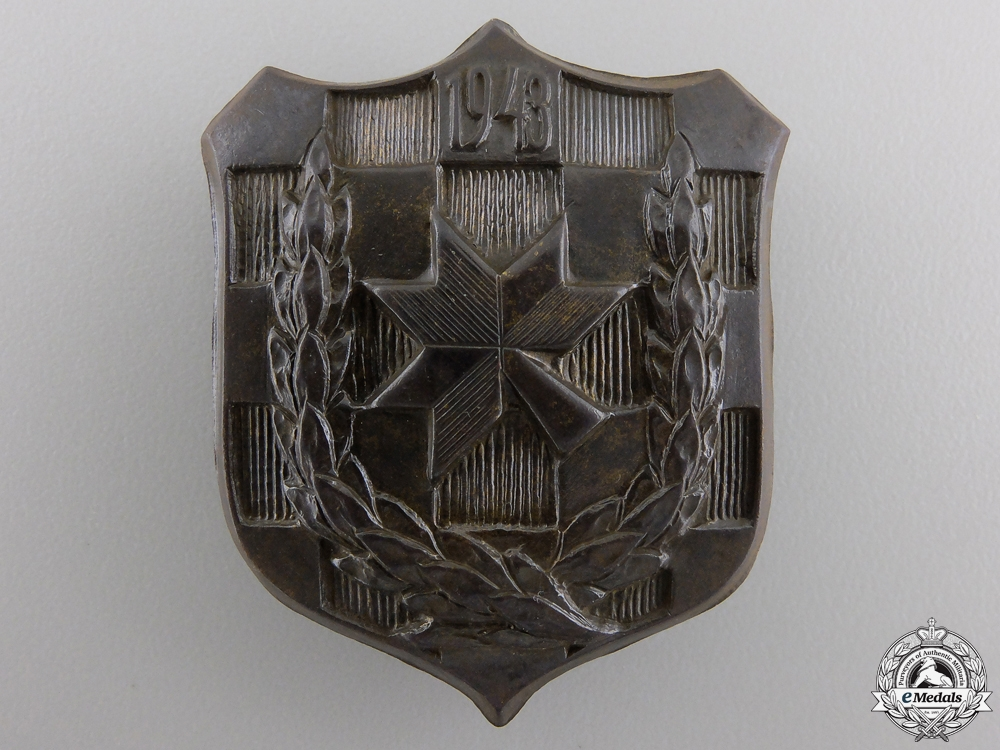 eMedals-A 1943 Iron Trefoil Officers School Commemorative Badge
