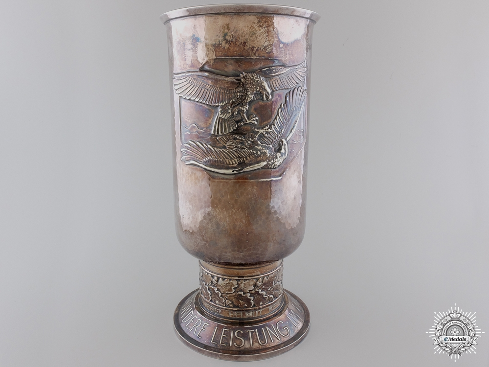 eMedals-A 1943 Luftwaffe Honor Goblet to Ju88 Pilot Downed over Tunisia