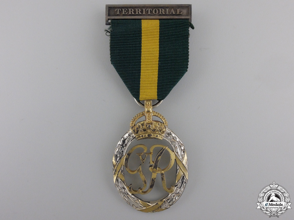 eMedals-A GVI Efficiency Decoration; Territorial Bar; 1950 Dated