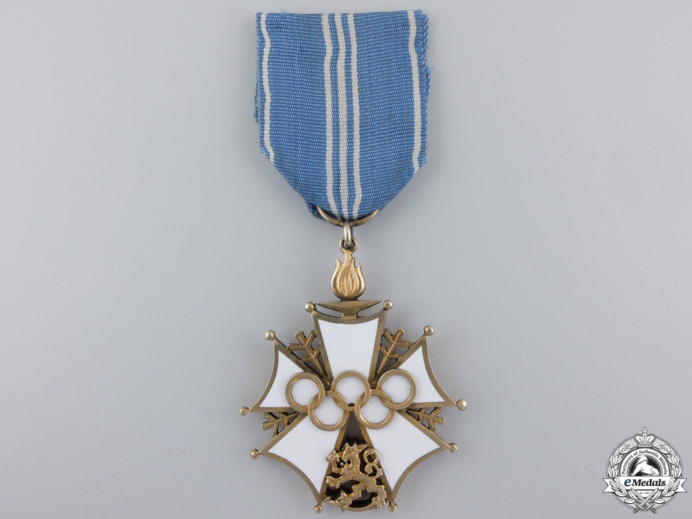 eMedals-A 1952 Finnish Olympic Order of Merit; Second Class