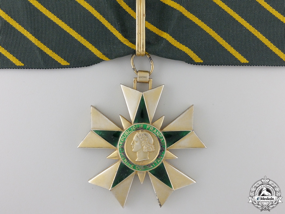 eMedals-A 1953-63 French Order of Merit for Combatants; Commander's