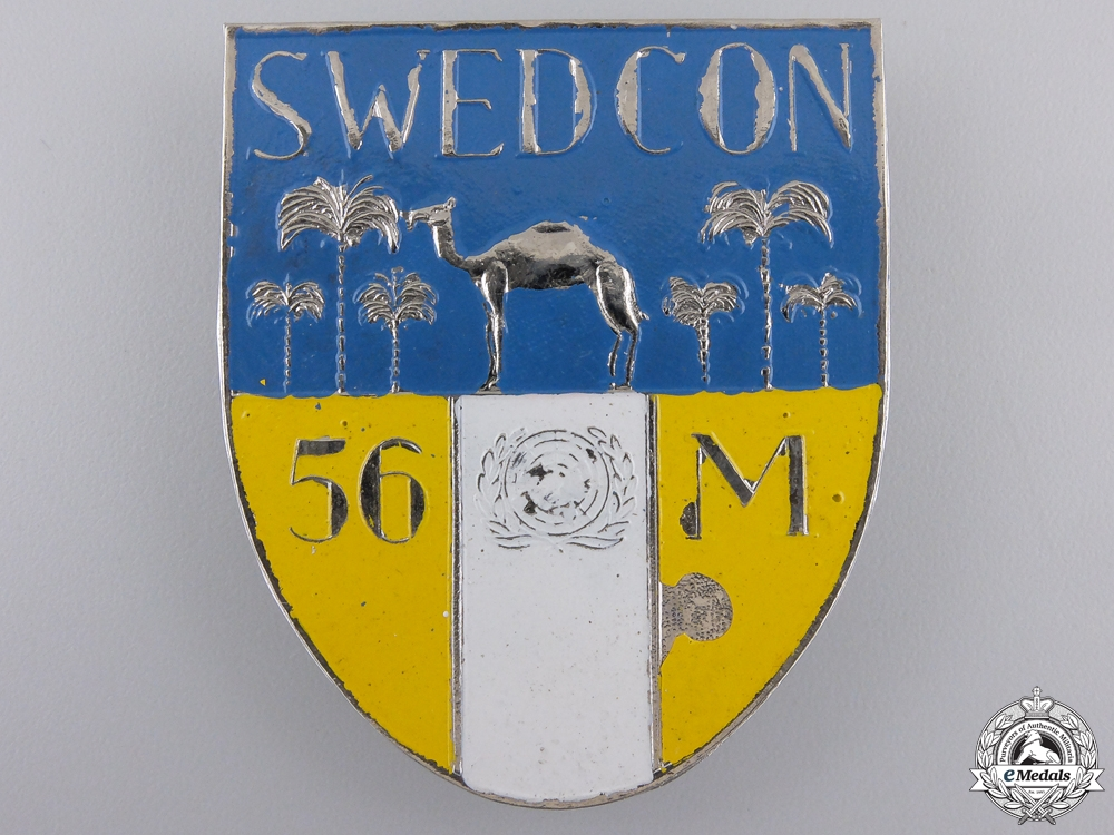 eMedals-A 1956 United Nations Swedcon Beret Badge