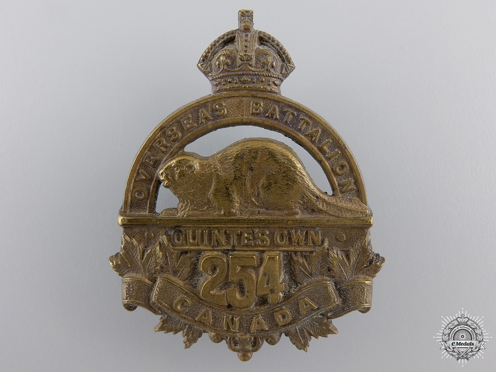 eMedals-A 254th Quinte's Own Infantry Cap Badge CEF