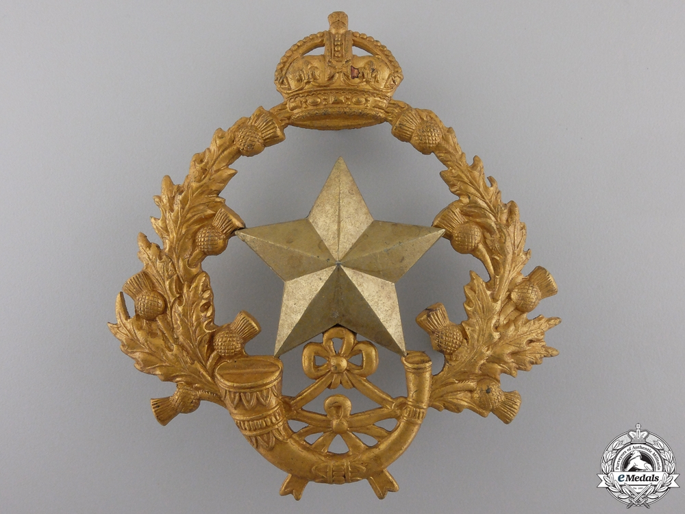 eMedals-A 2nd Volunteer Battalion Cameronians (Scottish Rifles) Helmet Plate