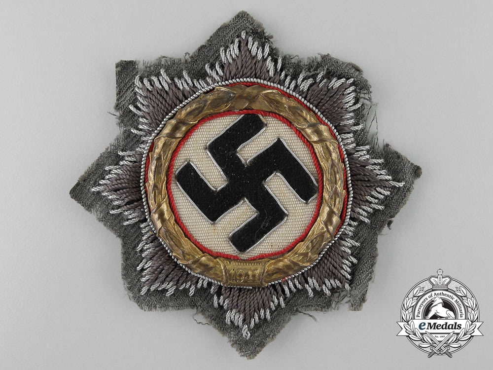eMedals-An Wehrmacht/Army German Cross in Gold, Cloth Version