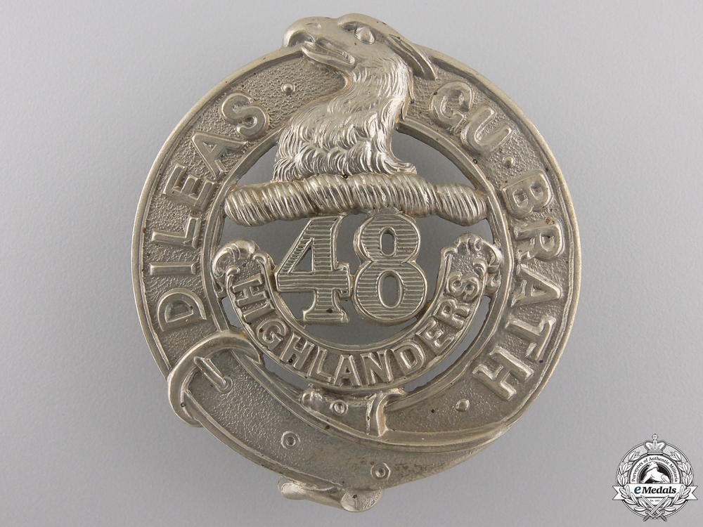 eMedals-A 48th Highlanders of Canada (Toronto, ON) Glengarry Badge