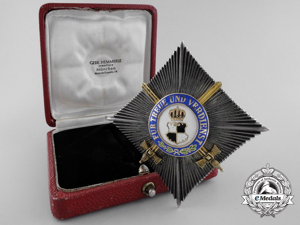 eMedals-A House Order of Hohenzollern; Second Class Star with Swords