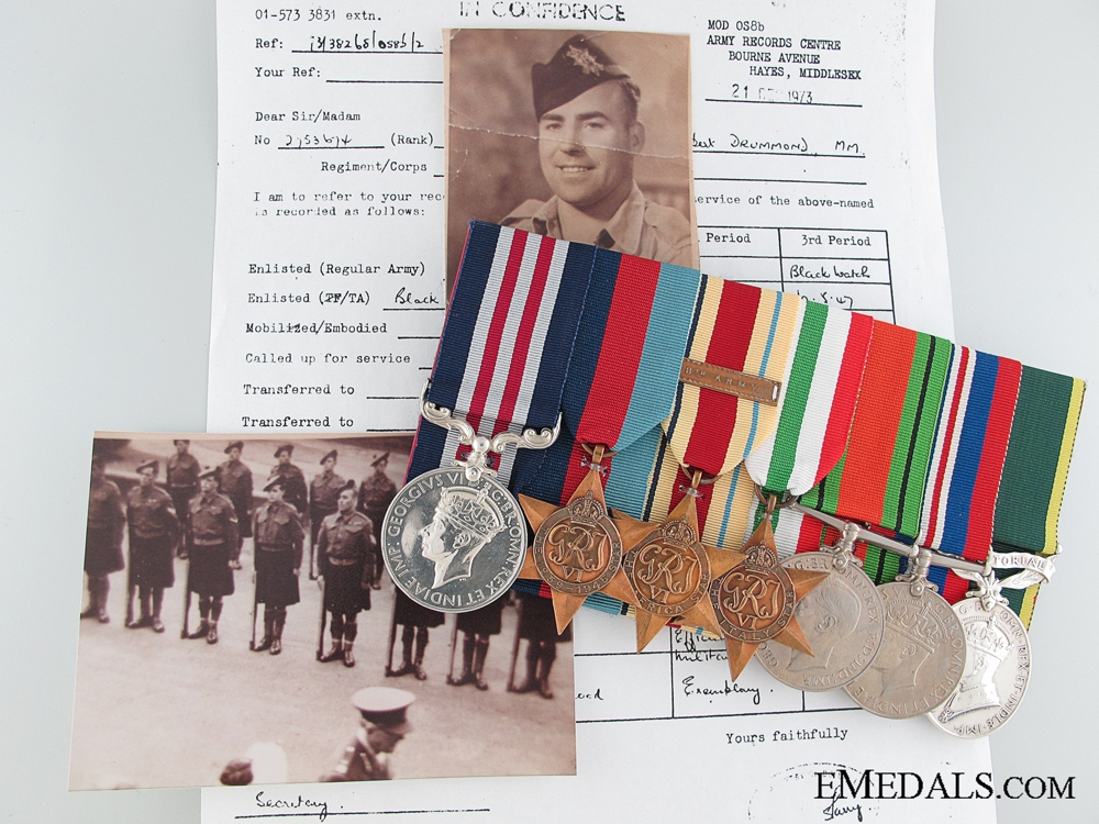 eMedals-The Battle of El Alamein Bayonet Charge MM Group