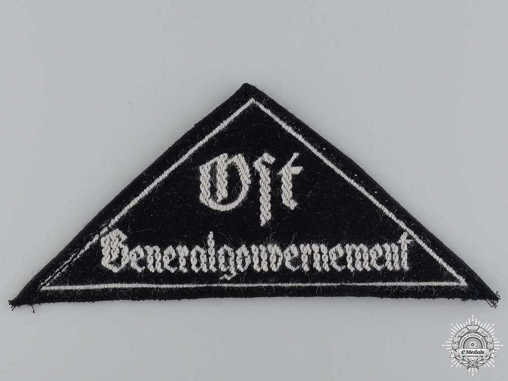 eMedals-A BDM District Triangle Sleeve Badge with RZM Tag