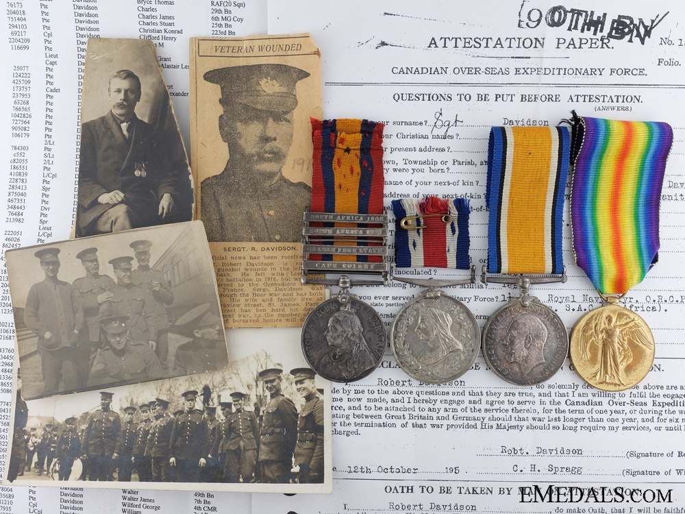 eMedals-A Boer War & First Medal Memorial Group to the 78th Infantry