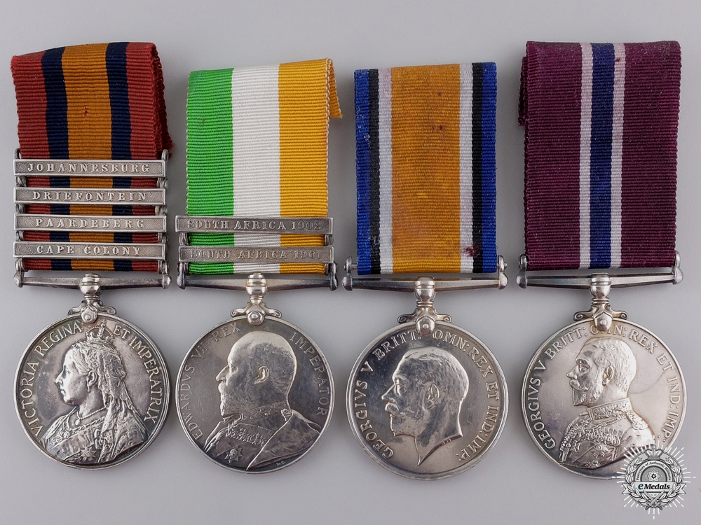 eMedals-A Boer War & WWI Group of Four to the Physical Fitness Staff