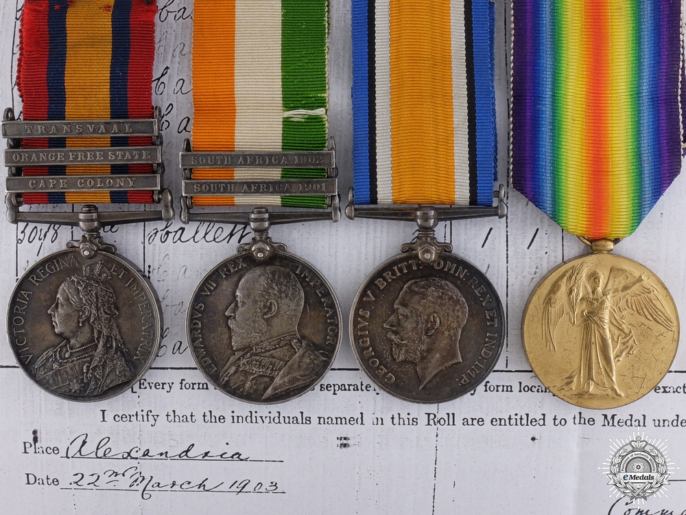 eMedals-A Boer War and First World War Group of Four to the Royal Berkshire Regiment