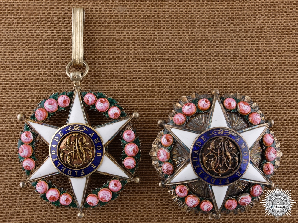 eMedals-A Brazilian Order of the Rose; Neck Badge and Breast Star