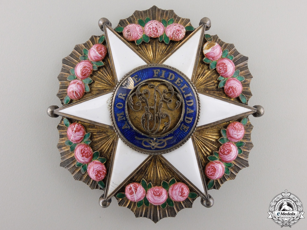 eMedals-A Brazilian Order of the Rose; Dignitary Breast Star