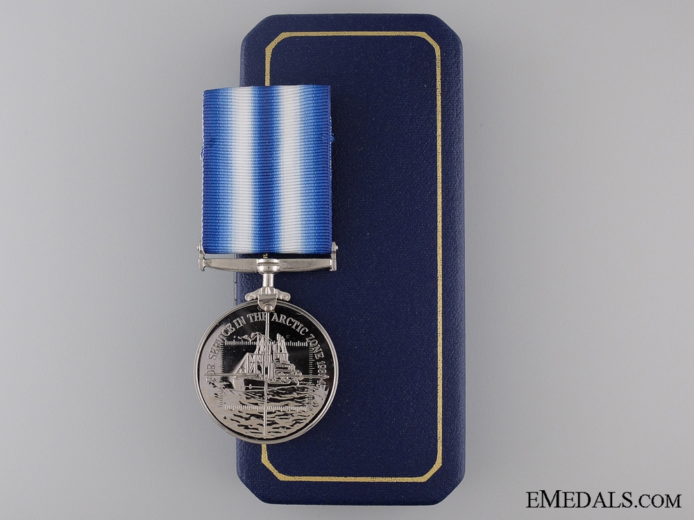 eMedals-A British WWII Arctic Campaign Medal with Case