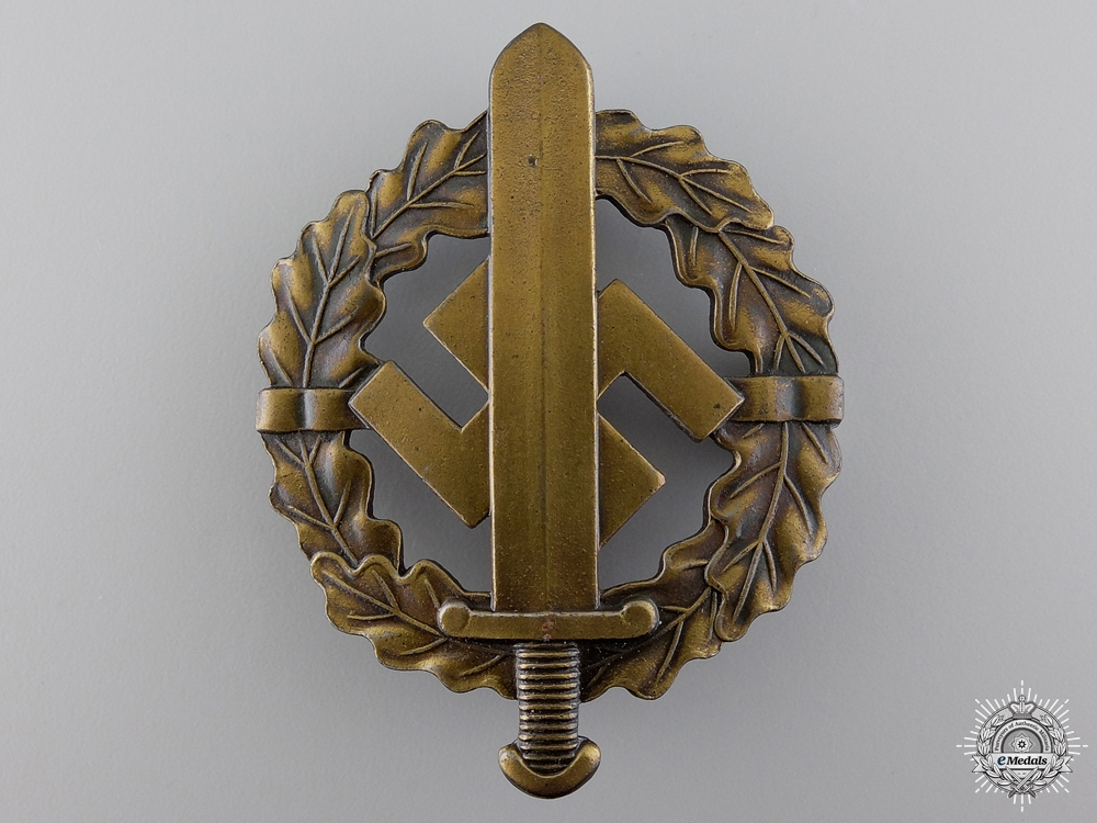 eMedals-A Bronze Grade SA Sports Badge by Berg & Notle A.G