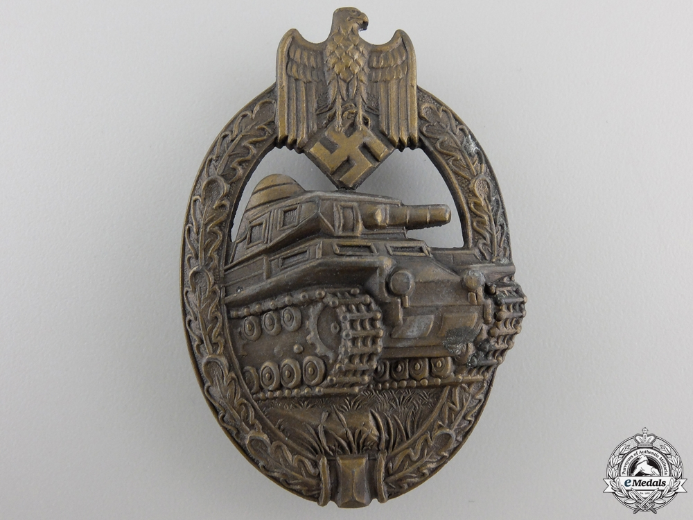 eMedals-A Bronze Grade Tank Badge by Adolf Scholze