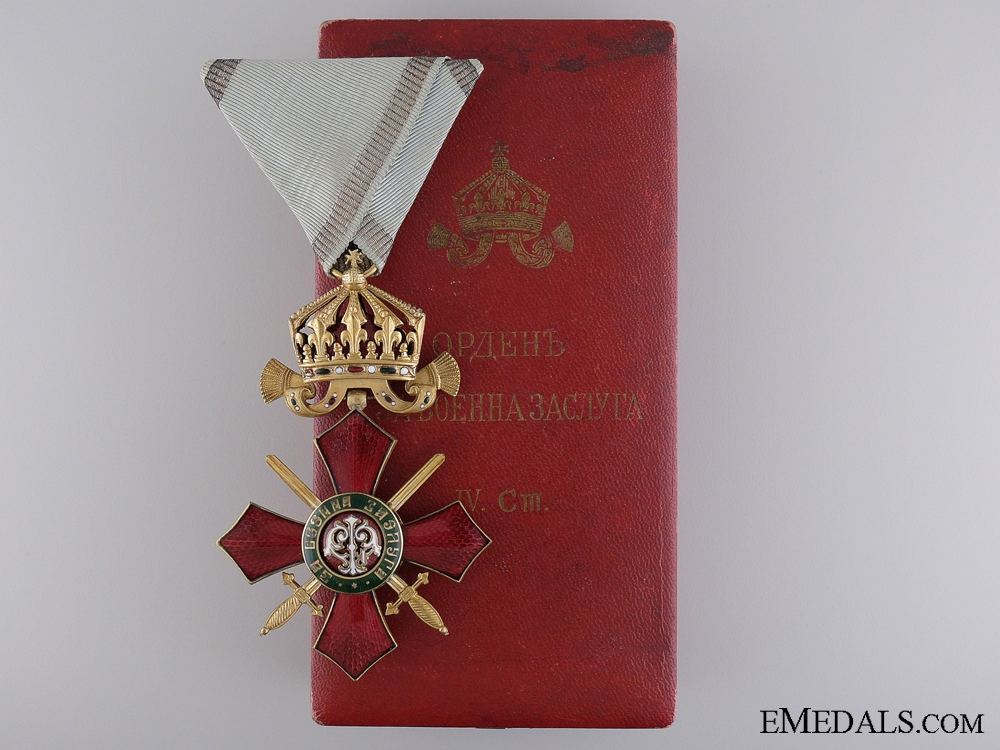 eMedals-A Bulgarian Order of Military Merit; Officer's Cross Fourth Class