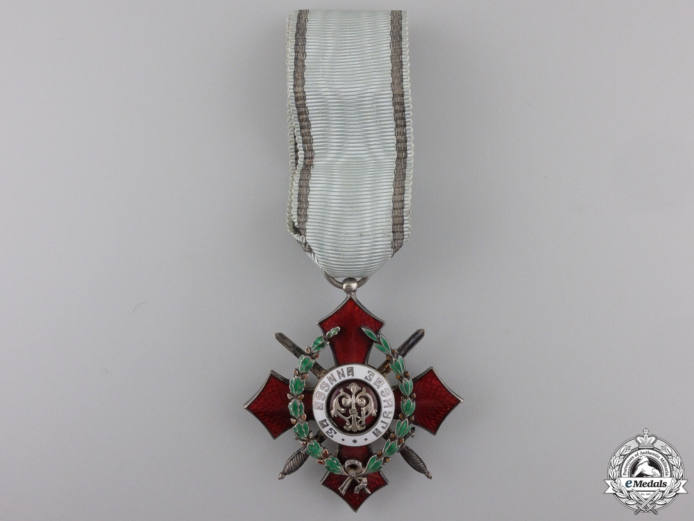eMedals-A Bulgarian Order of Military Merit; Fifth Class Cross with War Decoration
