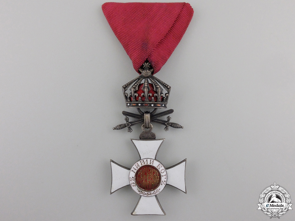 eMedals-A Bulgarian Order of St. Alexander with Crown & Swords; Fifth Class