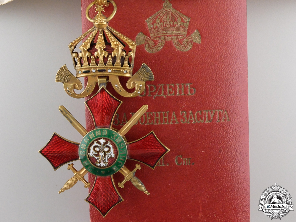 eMedals-A Bulgarian Order of Military Merit; Commander's Cross with Case