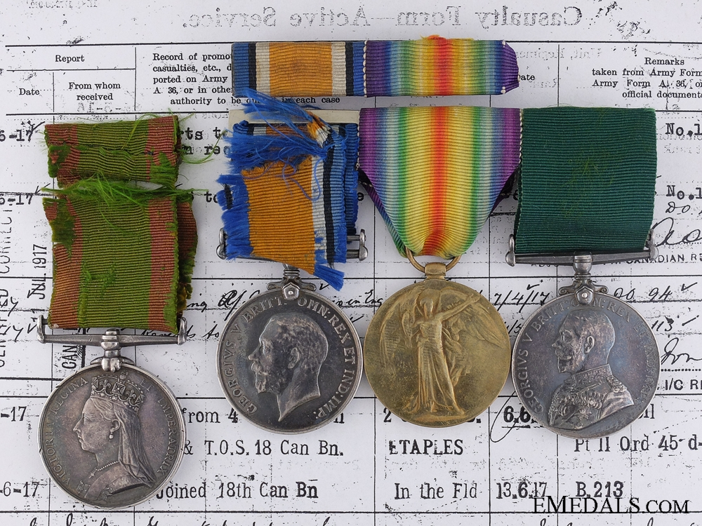 eMedals-A Canadian Afghanistan & First War Medal Pairing