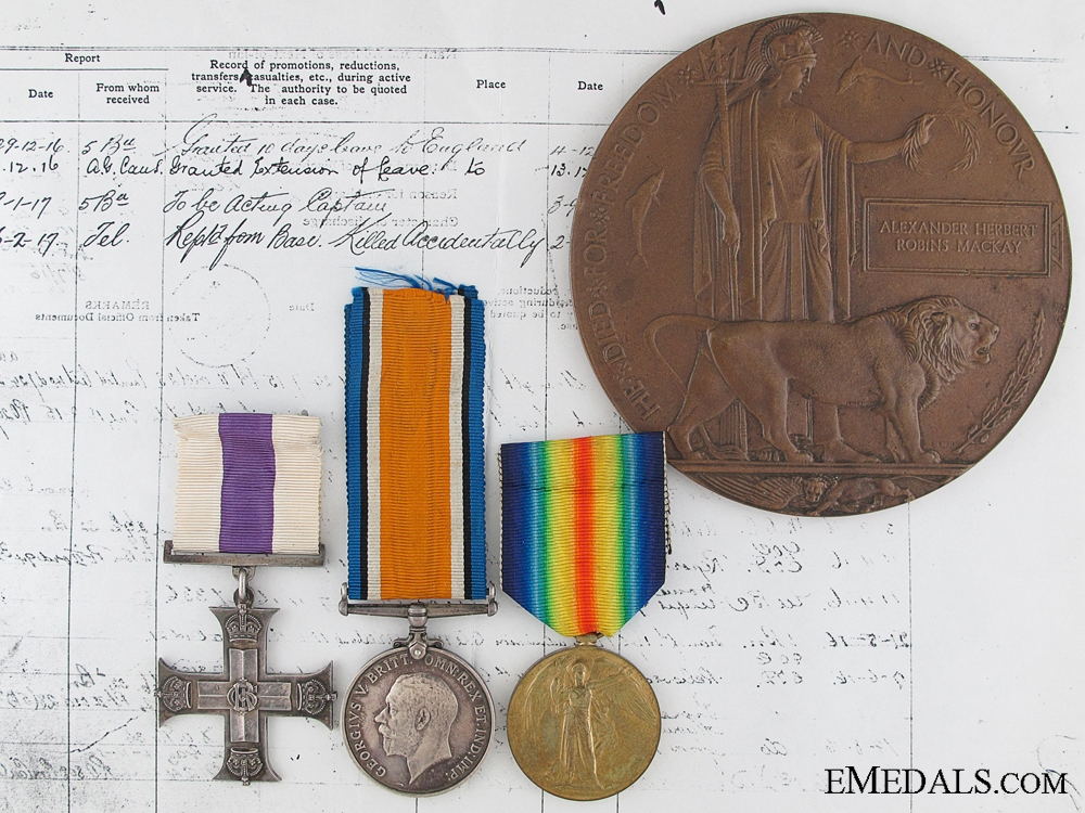 eMedals-A Canadian Casualty Military Cross Group for 1916 Action