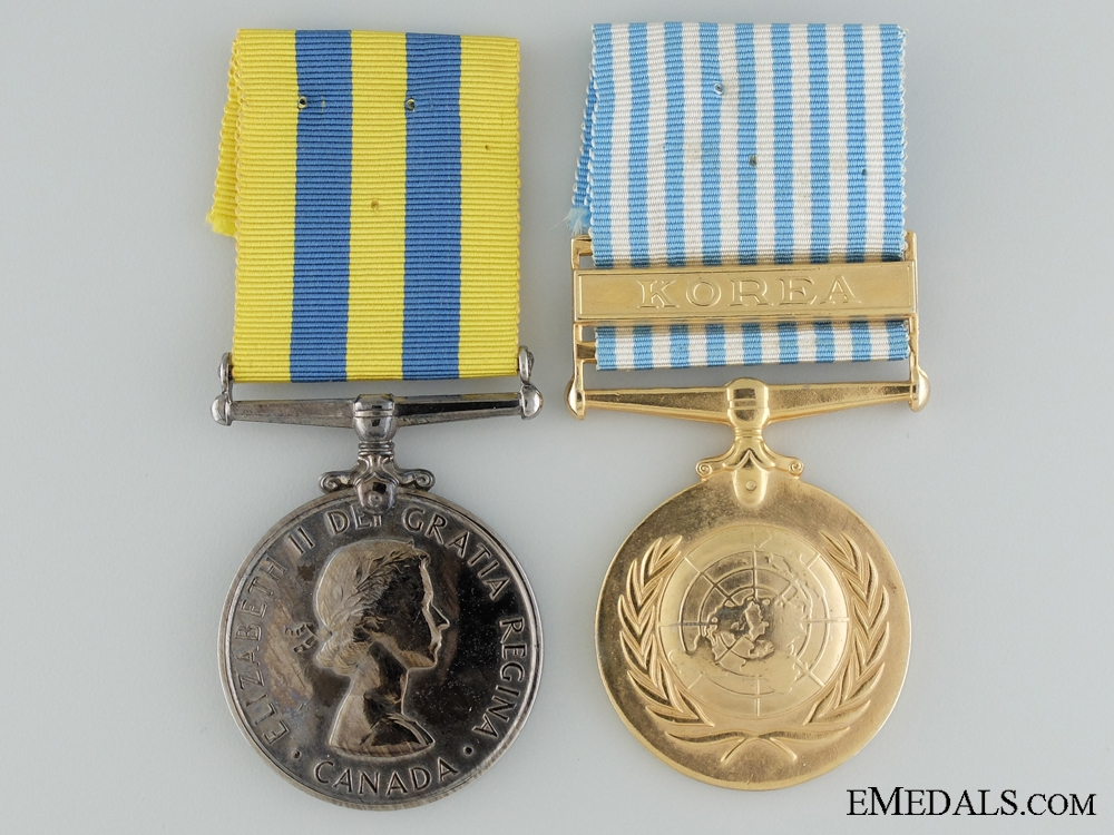 eMedals-A Canadian Korea Medal Pair to L.G. Brant