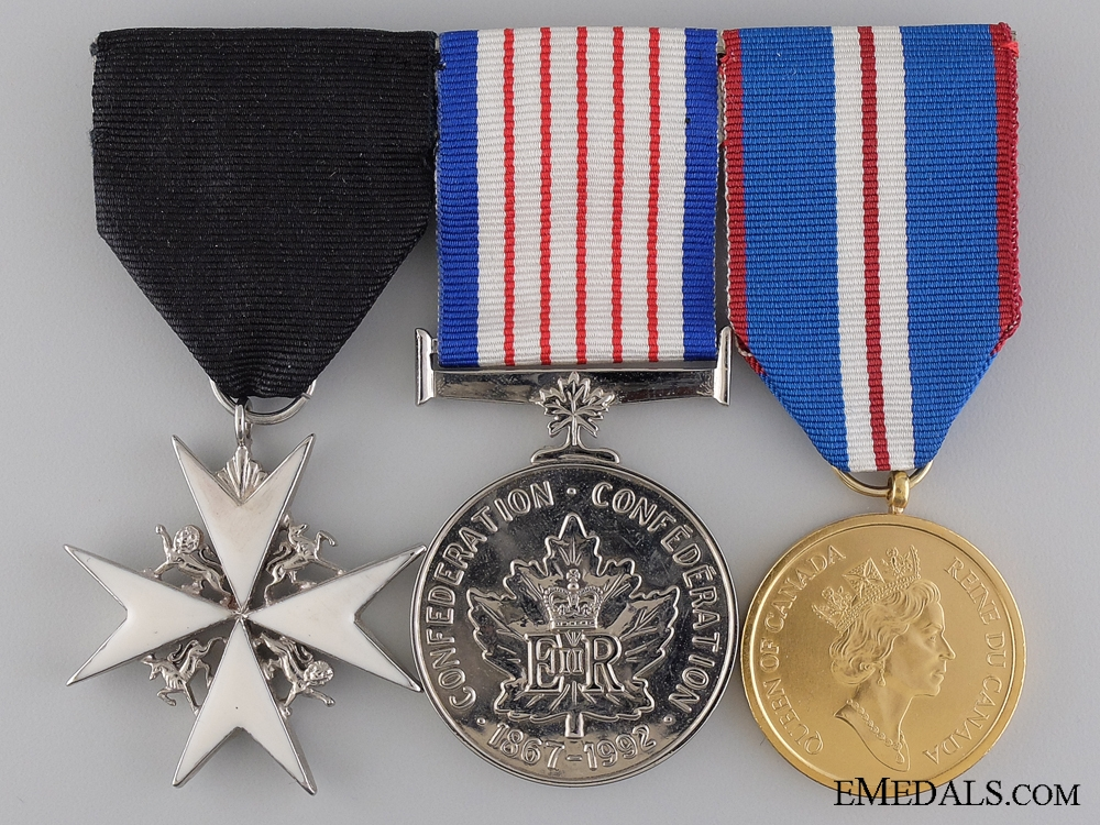 eMedals-A Canadian Golden Junilee Medal Bar with Three Awards