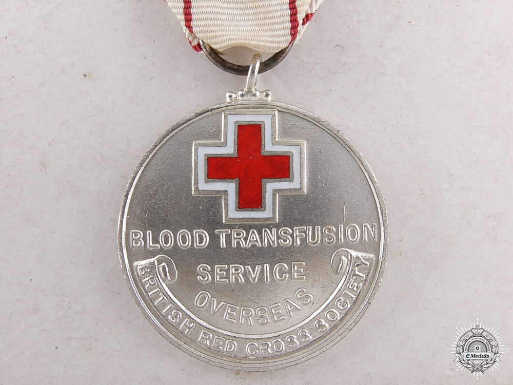 eMedals-A Canadian Overseas Blood Transfusion Service Award to Mrs.Marchetti
