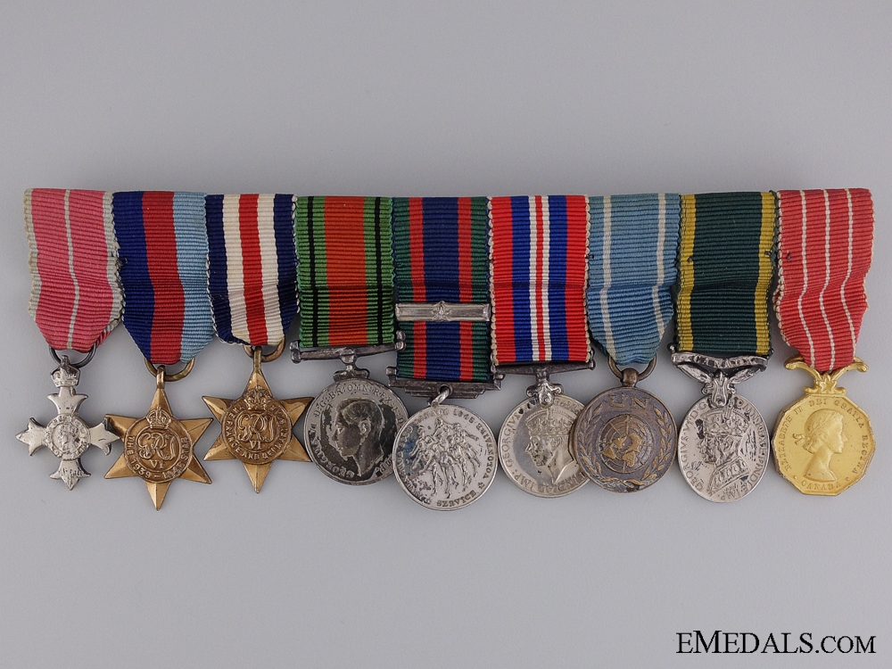 eMedals-A Canadian Second War OBE Miniature Medal Bar