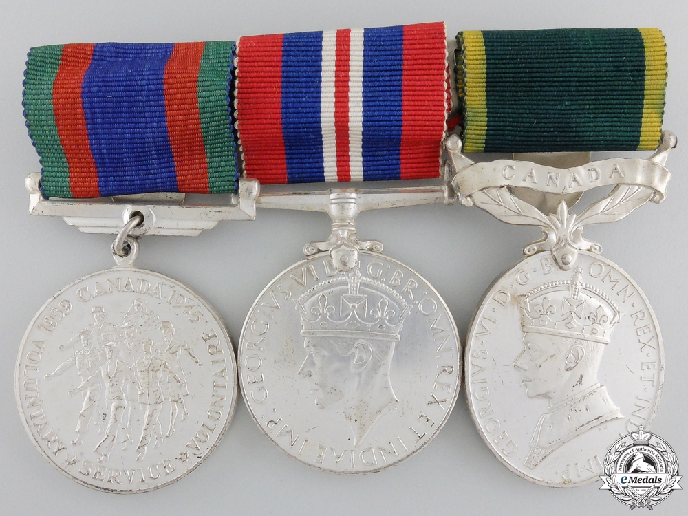 eMedals-A Canadian Second War & Efficiency Medal Group