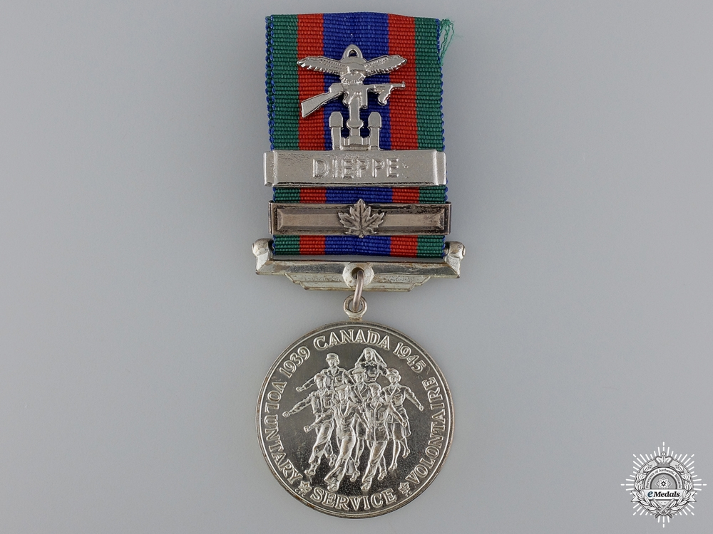eMedals-A Canadian Volunteer Service Medal with Dieppe Clasp