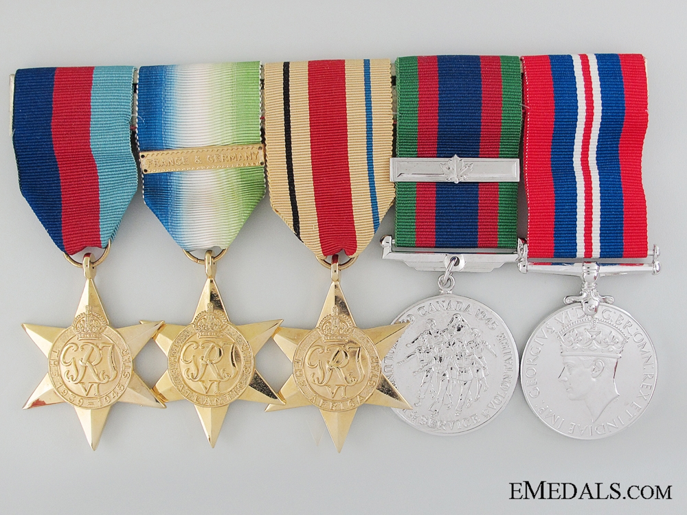 eMedals-A Canadian WWII Group of Five