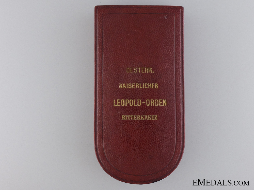 eMedals-A Case for Austrian Order of the Leopold, V. Mayer & S¡_hne