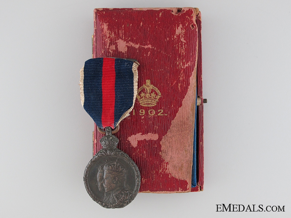 eMedals-A Cased 1902 Coronation Medal