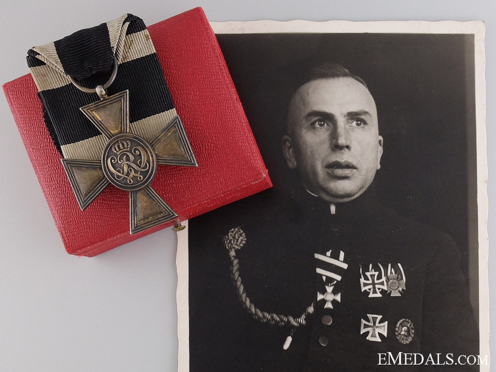 eMedals-A Golden Military Merit Cross by Wagner to a Serving Priest