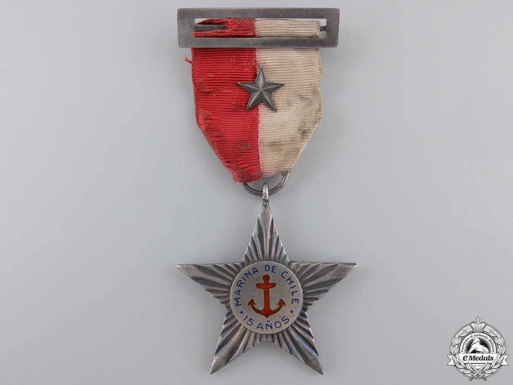 eMedals-A Chilean Fifteen Years Naval Service Star