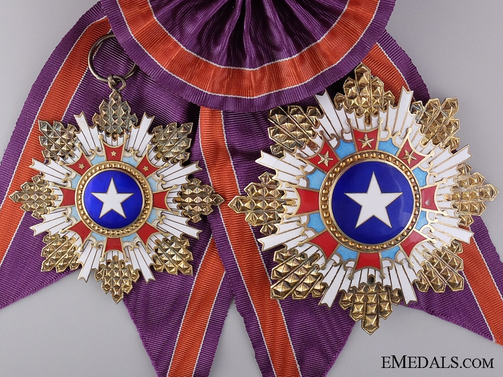 eMedals-A Chinese Order of the Brilliant Star; 1st Class Grand Cross Set.