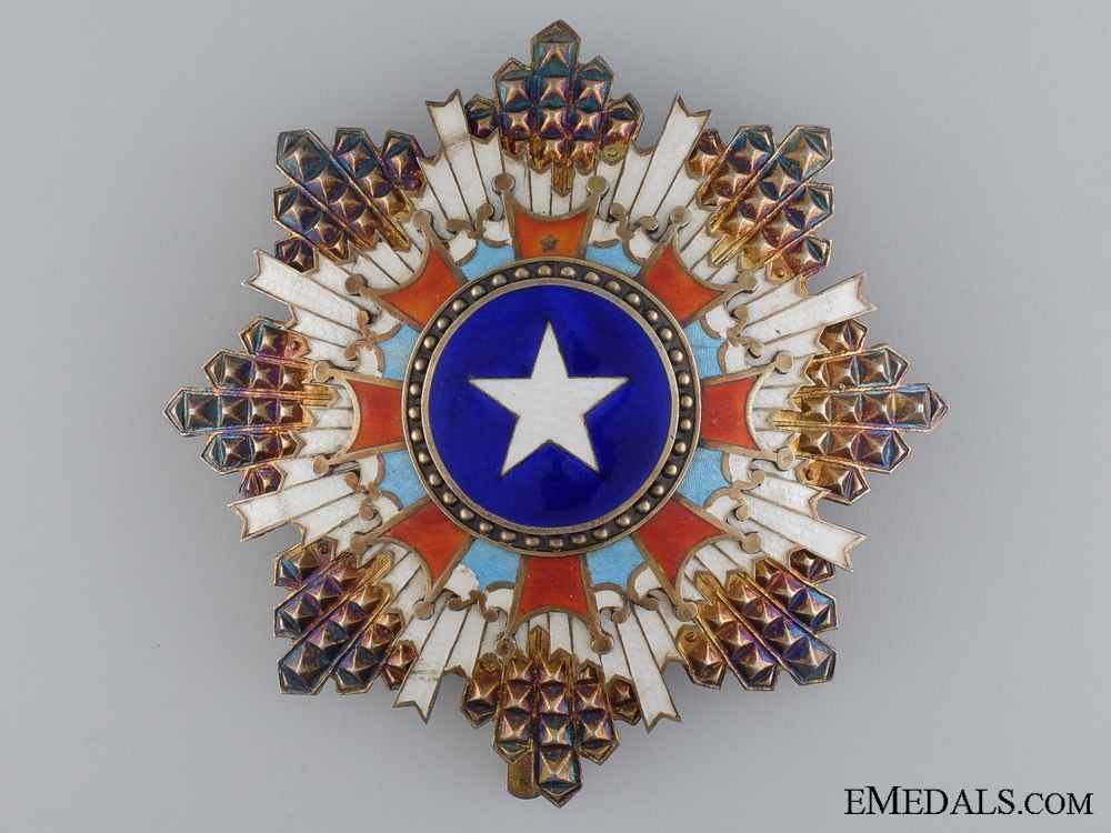 eMedals-A Chinese Order of the Brilliant Star; 3rd Class Breast Star