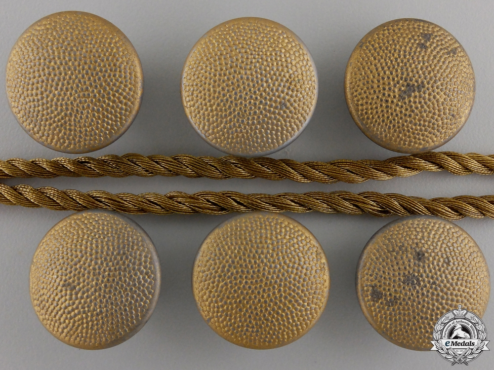 eMedals-A Collar Braiding for Luftwaffe General's Tunic with 9 Buttons