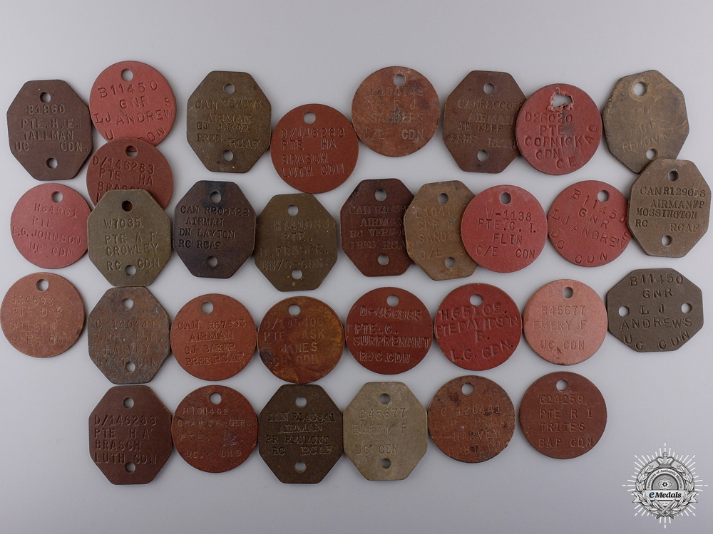eMedals-A Collection of Canadian Second War Identity Discs