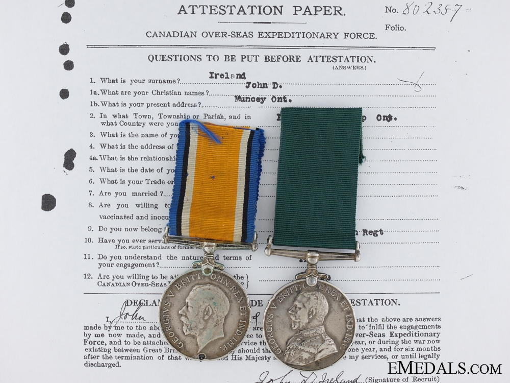 eMedals-A Colonial Auxiliary Long Service Medal Pair to the 135th Infantry