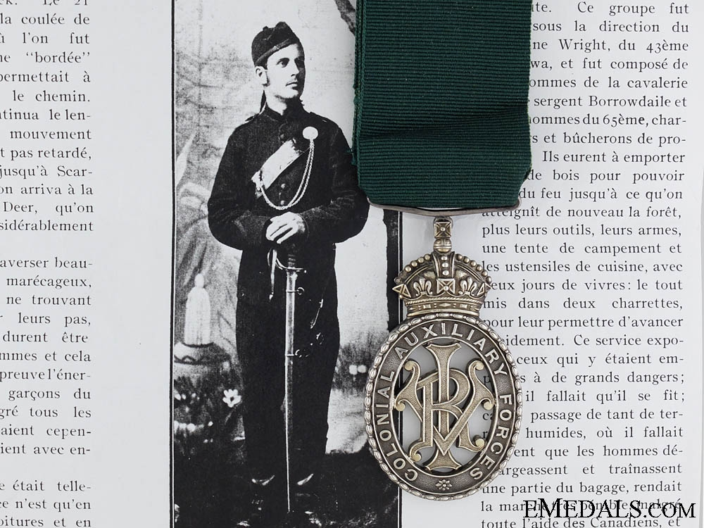 eMedals-A Colonial Auxiliary Forces Officer's Decoration to the 65 Regiment